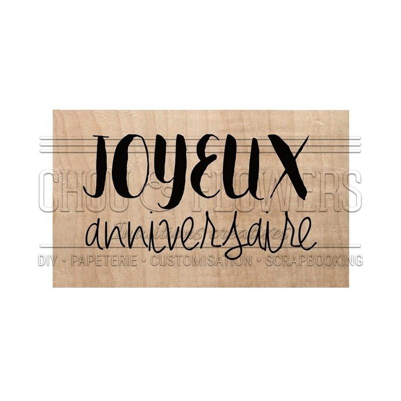 """Tampon bois """"Joyeux anniversaire"""""""