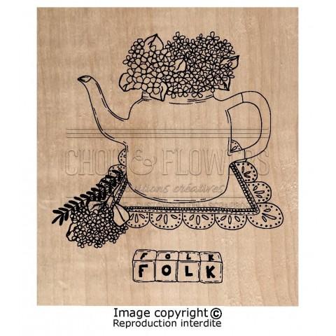 "Tampon bois ""folk bird"""