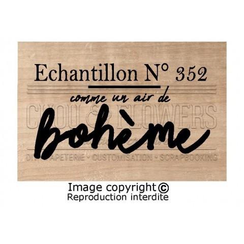 """TAMPON BOIS """"ECHANTILLON N°352"""""""