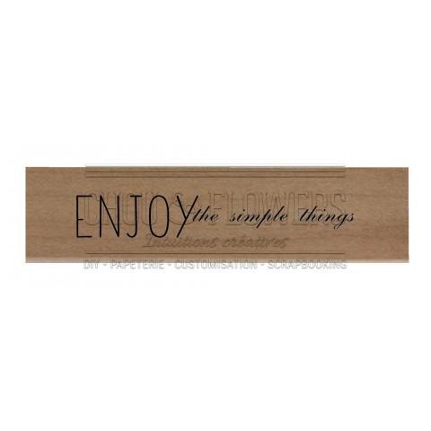 "Tampon bois ""Enjoy ... """