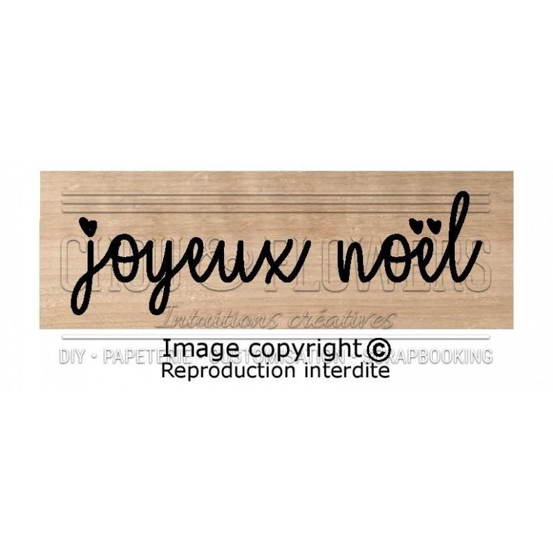 """Tampon bois """"Joyeux Noël coeur"""""""