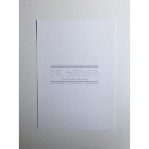 Pack de 6 papiers texturés lin blanc