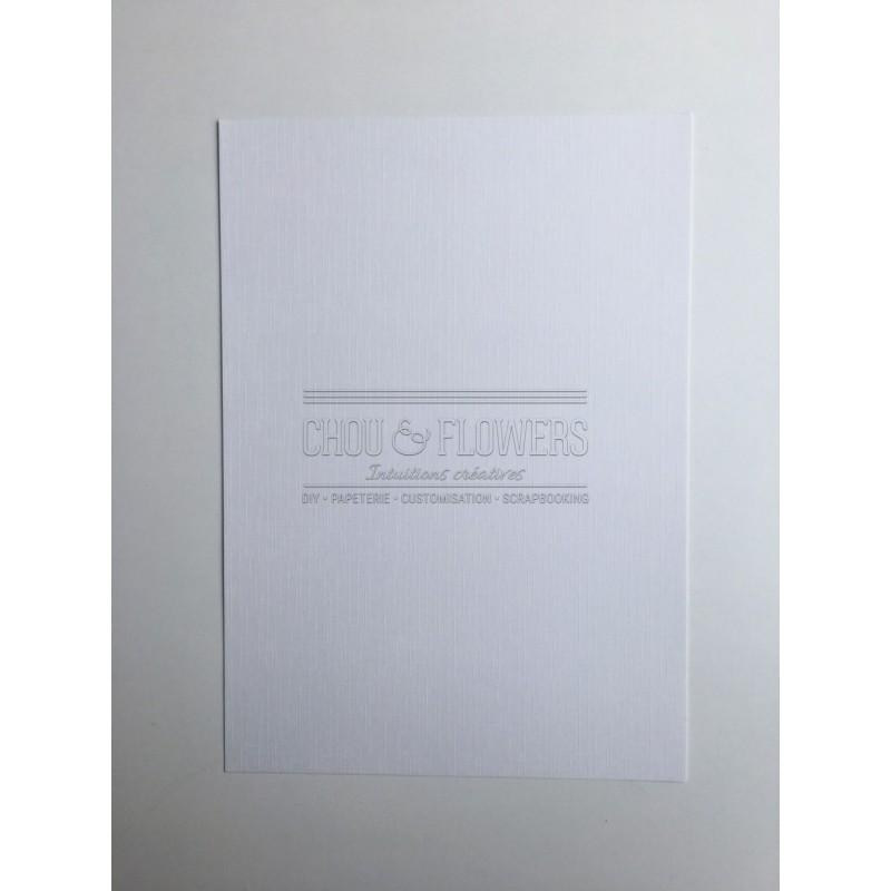 Pack de 6 papiers textutés lin blanc