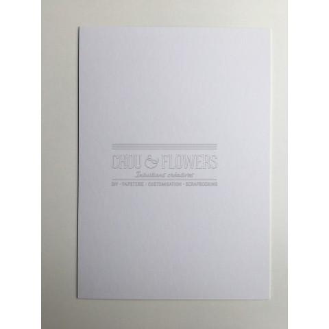 1 papier cartonné blanc