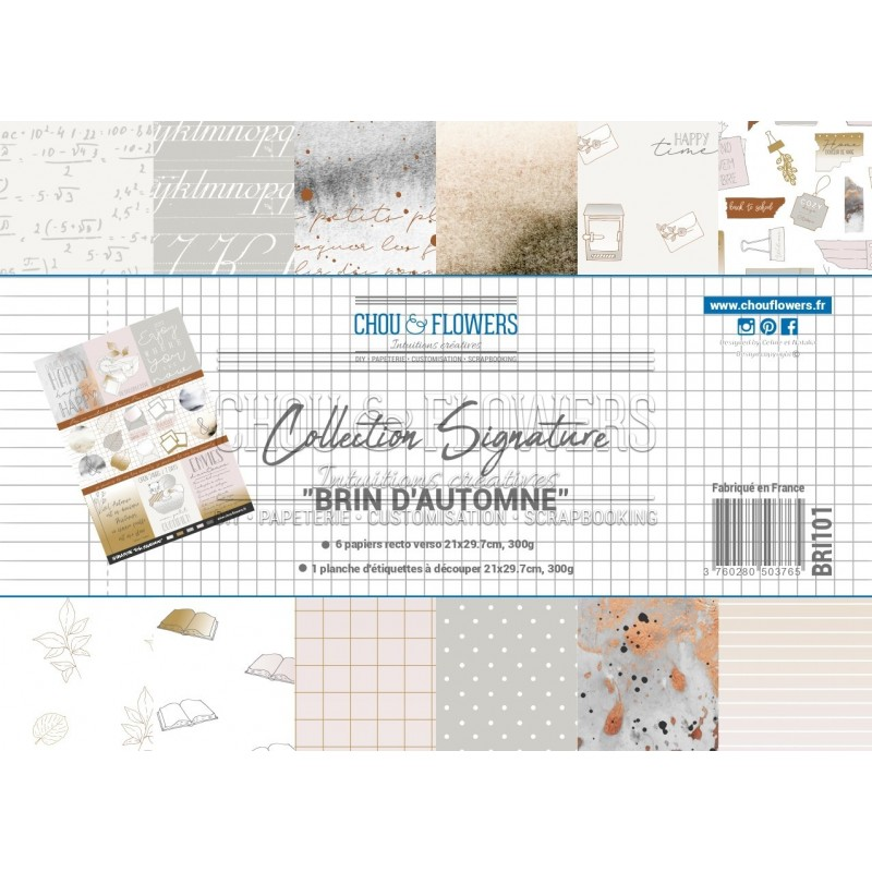 PAPIERS FORMAT A4 300G COLLECTION SIGNATURE BRIN D'AUTOMNE