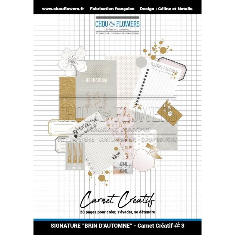 CARNET CREATIF 3, COLLECTION SIGNATURE BRIN D'AUTOMNE