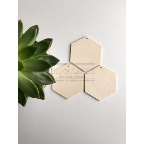 3 Hexagones en bois