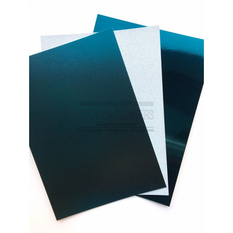 pack de 3 PAPIERS ICE BLUE A CREER