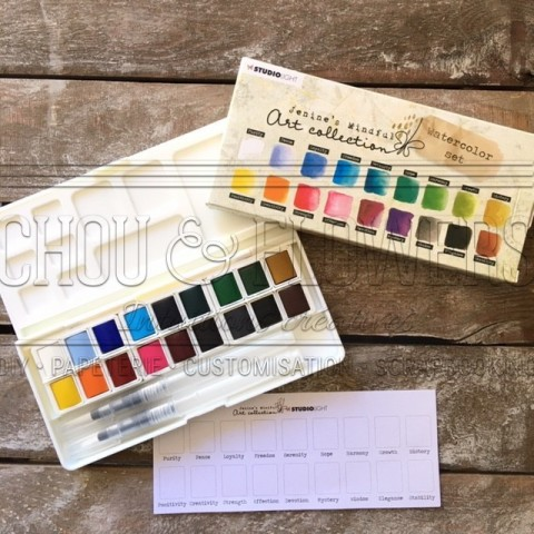 WATERCOLOR SET 18 GODETS