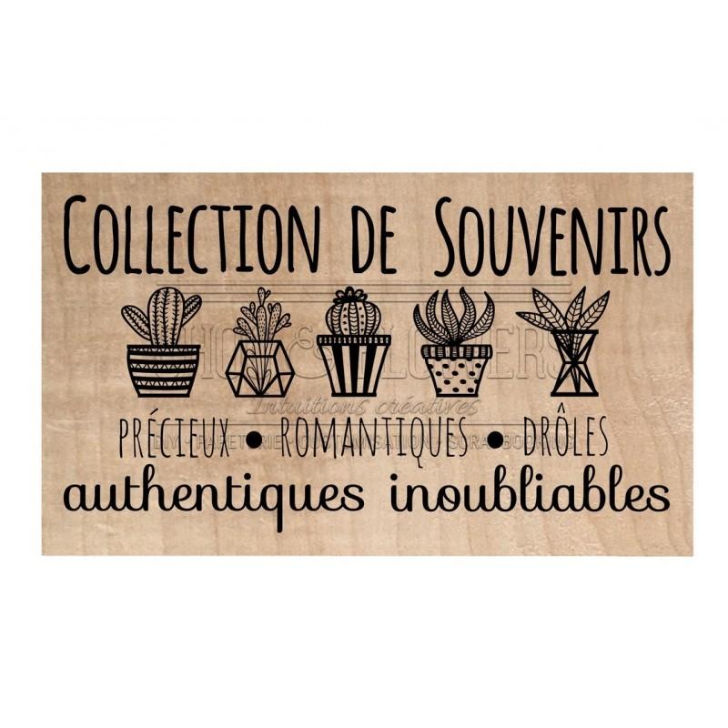 """TAMPON BOIS """"Collection de souvenirs"""""""