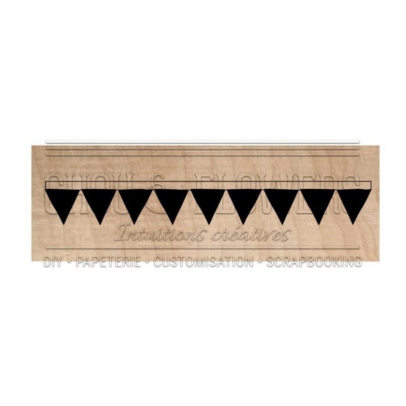 """Tampon bois """"petite étagère triangle"""""""