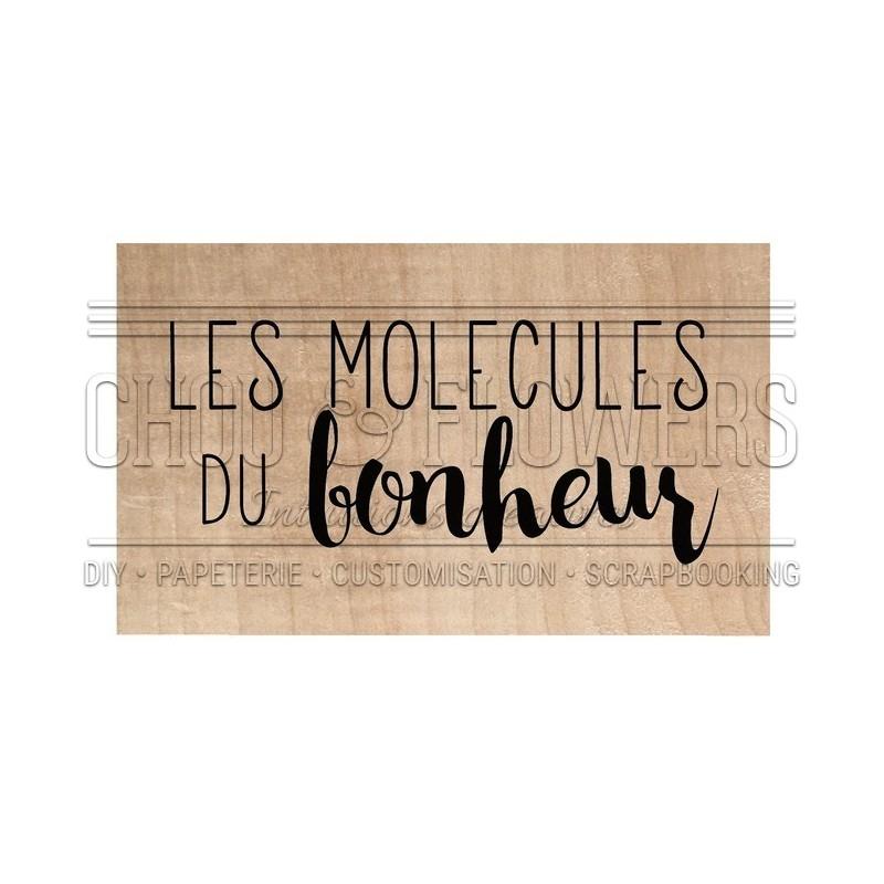 """Tampon bois """"Molécule du bonheur"""""""