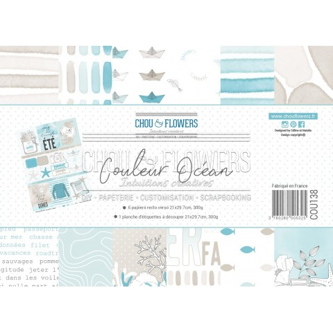 PAPIERS FORMAT A4 300G COLLECTION COULEUR OCEAN