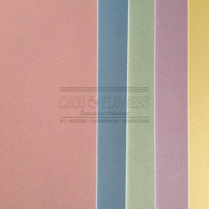 Pack de 5 papiers pastels
