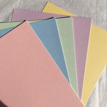 Pack de 5 papiers pastel
