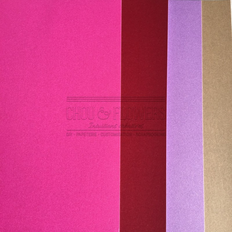 pack de 4 papiers Flashys (Rose)