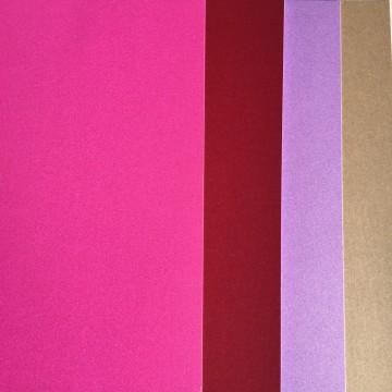 pack de 4 papiers Flashy (Rose)
