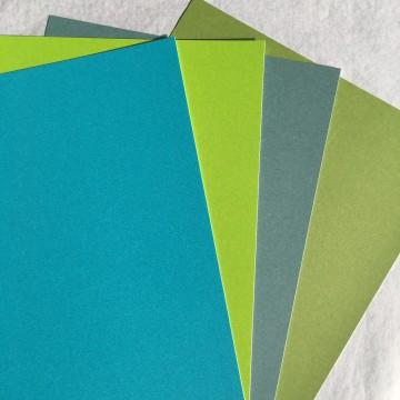 Pack de 4 papiers Flashy (bleu-vert)