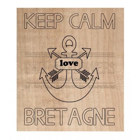 "Tampon bois ""Keep Calm Bretagne"""