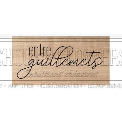 "Tampon bois ""Entre guillemet"""