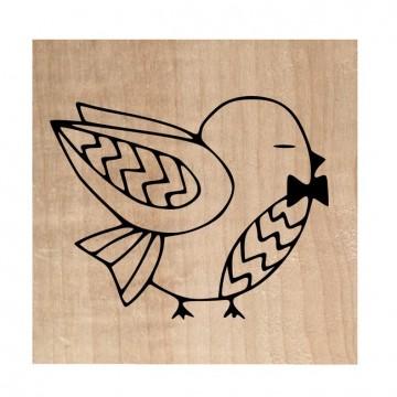 """Tampon bois """"Mr oiseau papillon"""""""