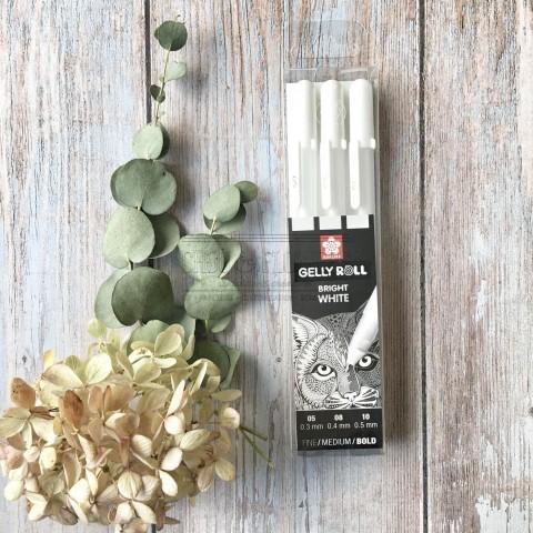 Set de 3 crayons blanc Sakura
