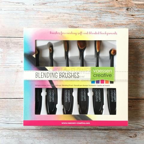 set de 4 Blending brush mixed media