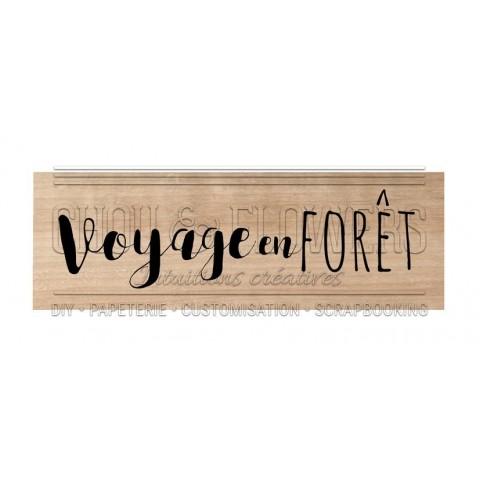 """TAMPON BOIS """"Voyage en forêt"""""""