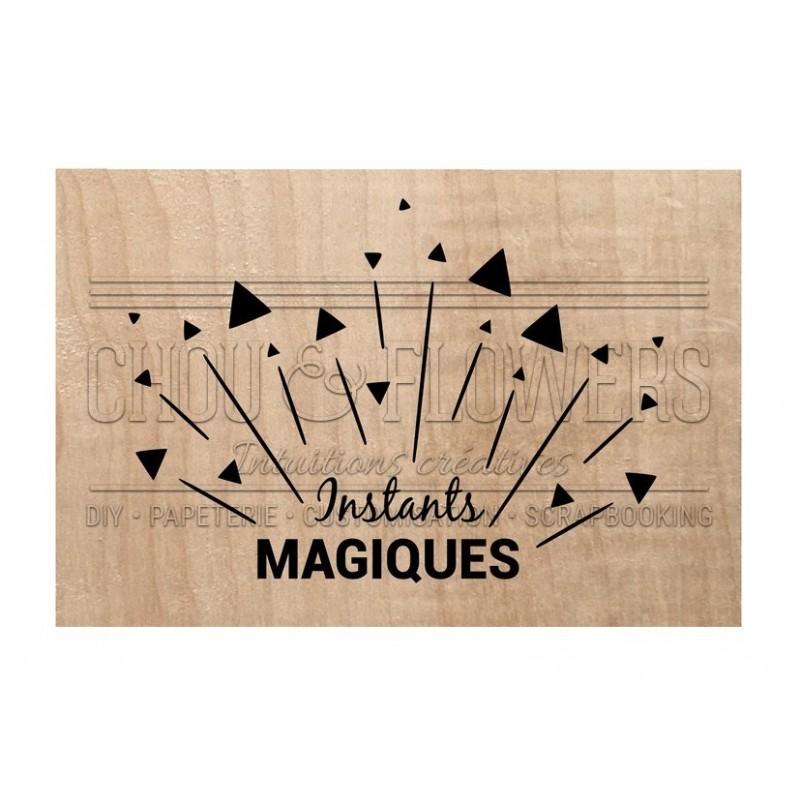 """Tampon bois """"Instants magiques"""""""