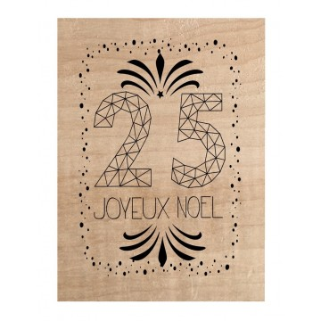 "Tampon bois ""25 Joyeux"""