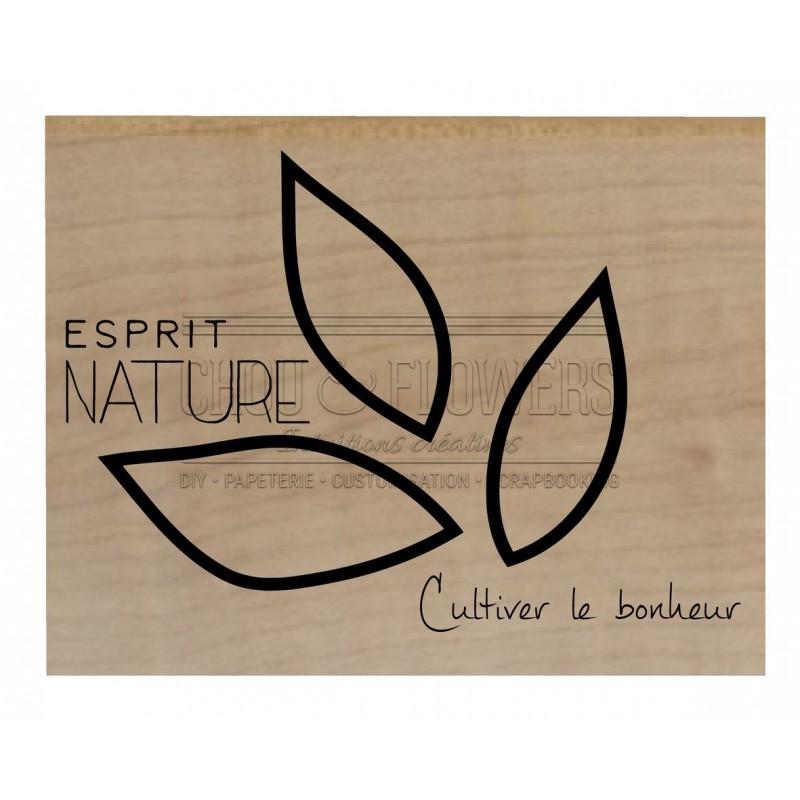 "Tampon bois ""Esprit nature"""