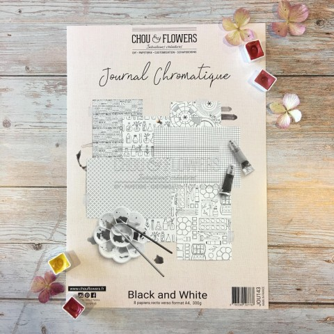 COLLECTION PAPIER A4 JOURNAL CHROMATIQUE BLACK AND WHITE