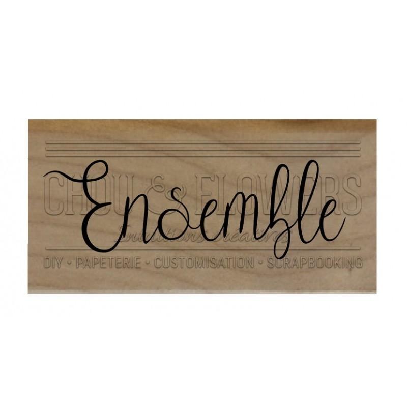 """Tampon bois """"Ensemble"""""""