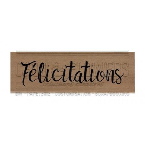 "Tampon bois ""Félicitations"""