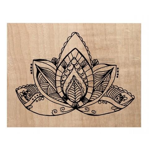 "Tampon bois ""Lotus"""