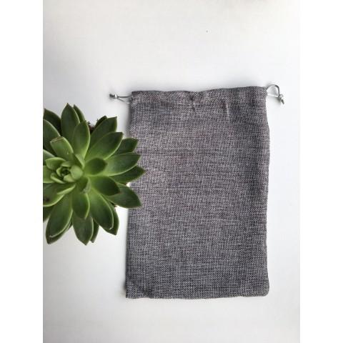 Sac en toile de jutte gris 20 X 30 cm