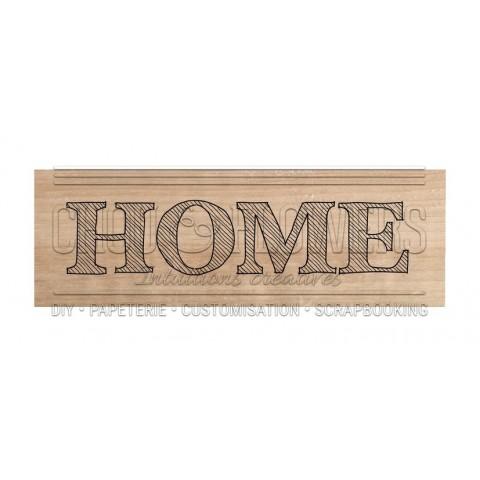 """Tampon bois """"Home"""""""
