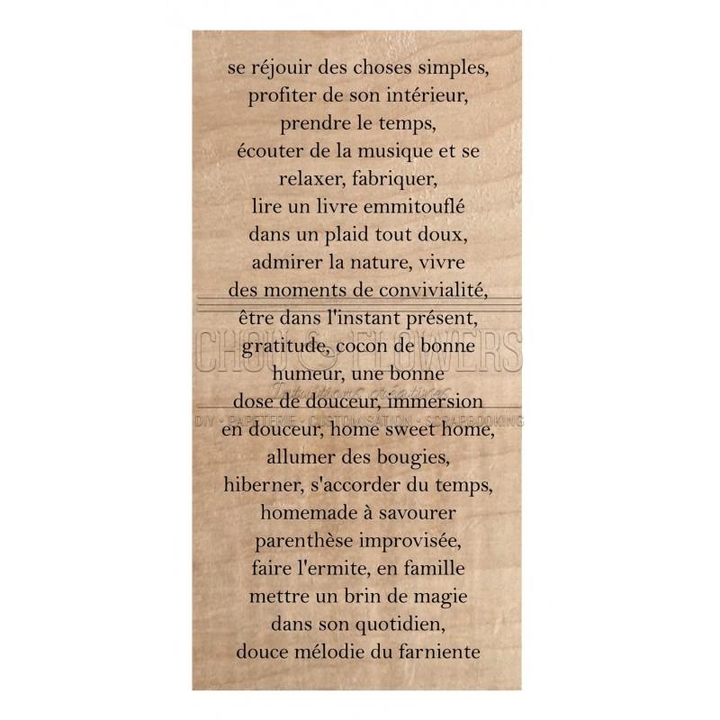 """Tampon bois """"TEXTE HYGGE"""""""