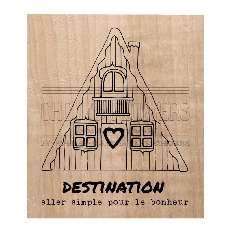 """Tampon bois """"DESTINATION"""""""