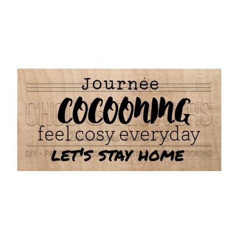 "Tampon bois ""JOURNEE COCOONING"""