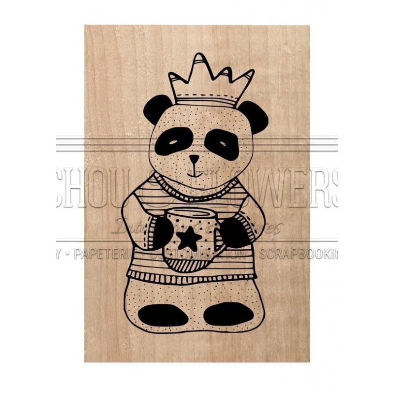 "Tampon bois ""panda"""