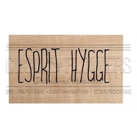 "Tampon bois ""ESPRIT HYGGE"""