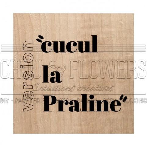 """Tampon bois """"La praline"""""""
