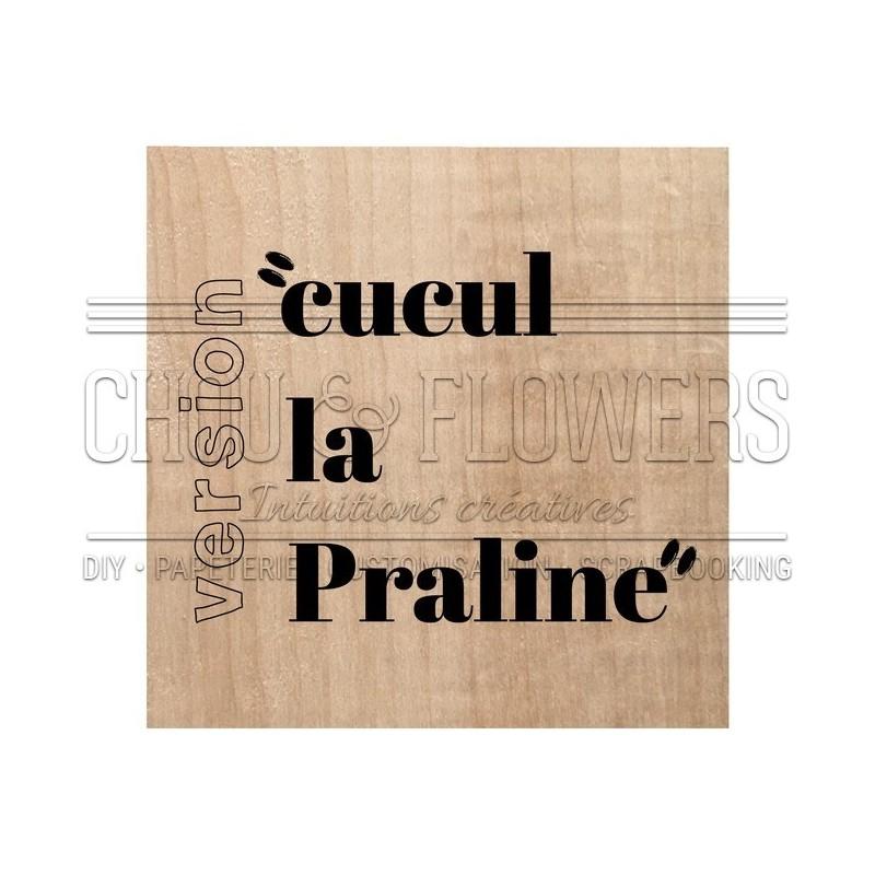 """Tampon bois """"LE PANIER"""""""