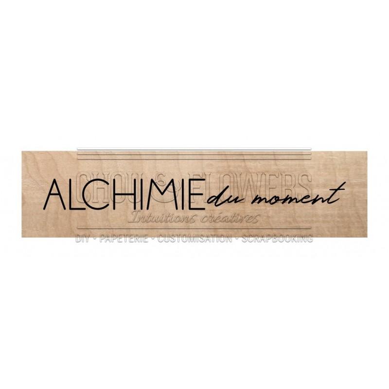"""Tampon bois """"Alchimie du moment"""""""