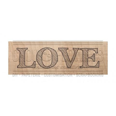 "Tampon bois ""Love organic"""