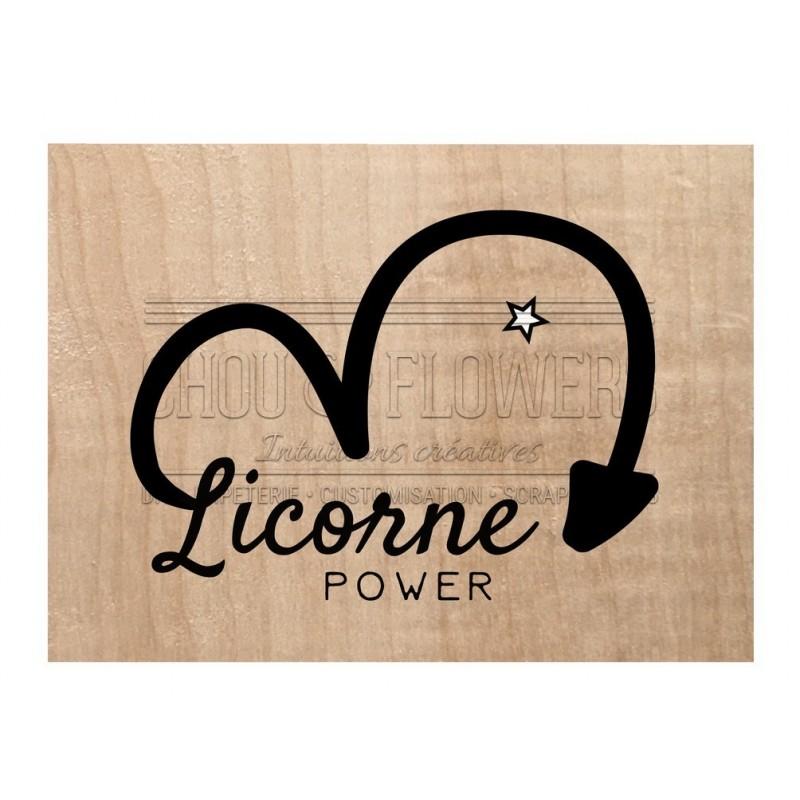 "Tampon bois ""Licorne power"""