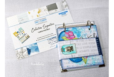 "MINI ALBUM ""carte postale"" par PINKLOLA"